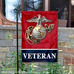 US Marines Veteran Garden Flag