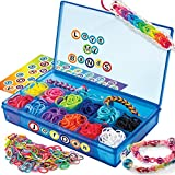 Cra-Z-Art CRA-Z-Loom Ultimate Collector Case with 1800 Rubber Bands, 50 S Clips and Alphabet Sticker Sheet