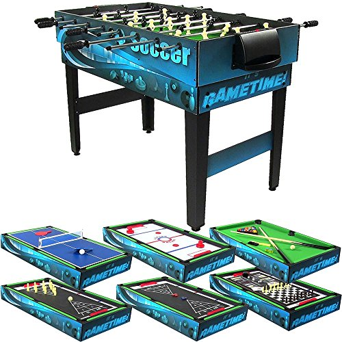 Sunnydaze 10 Combination Multi Game Table with Billiards, Push Hockey, Foosball, Ping Pong, and...