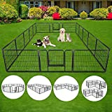 S AFSTAR Safstar 40/48 inch Dog Pen Pet Puppy Playpen Exercise Pens Gate Portable Folding Indoor Outdoor Metal Kennel Fence Pet Playpen 16 Panels (40' High)