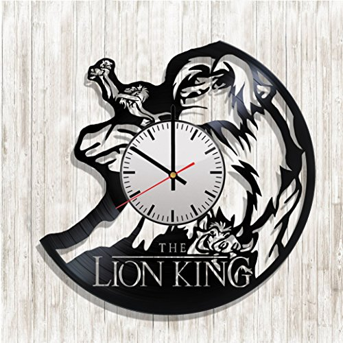 Vinyl record wall clock The Lion King, The Lion King decal, best gift for The Lion King fans (grey)