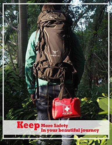 Songwin Botiquín de Primeros Auxilios de 130 artículos,Survival Tools Mini Box -Impermeable Bolsa Médica para el Coche,Hogar,Camping,Caza,Viajes,Aire Libre o Deportes,Pequeño Y Compacto. 5