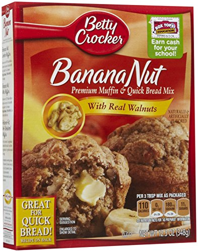 Betty Crocker Banana Nut Premium Muffin & Quick Bread Mix With Real Walnuts - 12.3 oz