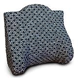 Back Buddy Support Pillow, Nina (Black/White Cotton)