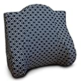 Back Buddy Support Pillow, Nina (Black/White Cotton)