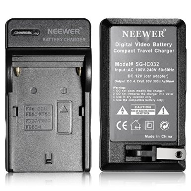 Neewer-2600mAh-Li-ion-Battery-and-Charger-Kit-for-Neewer-CN-160CN-216CN-126-CN-304-LED-Light-and-Sony-HandyCamsNanguang-Polaroid-Lights-Using-NP-F550F570F530-Batteries