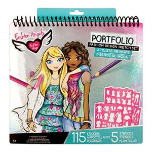 Fashion Angels Fashion Design Sketch Portfolio (11451) Full Size Sketch Book, Fashion Coloring for Kids,Brown/A