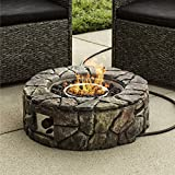 Best Choice Products Home Outdoor Patio Natural Stone Gas Fire Pit for Backyard, Garden - Multicolor
