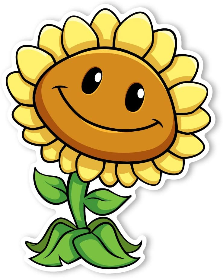Amazon Com Plants Vs Zombies Wall Decals Sunflower I 28 5 In X 36 In Plants Vs Zombies Kitchen Dining