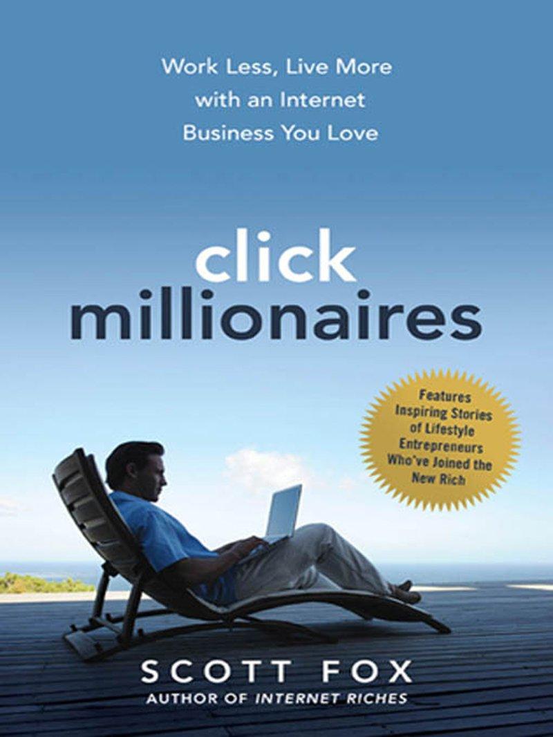 Livro Click Millionaires vai ao encontro do que é sucesso, o valor do outsourcing de modo a obter rendimento passivo