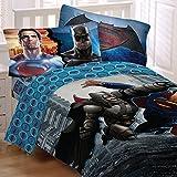 DC Comics Batman vs. Superman 4pc. Bedding Set, Comforter and Sheets (Twin Size)