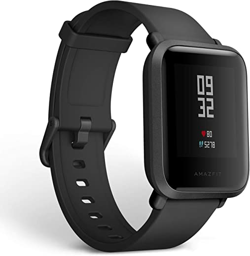 Amazfit Bip Smartwatch by Huami with All-Day Heart Rate and Activity Tracking, Sleep Monitoring, GPS, Ultra-Long Battery Life, Bluetooth, US Service and Warranty (A1608 Black)