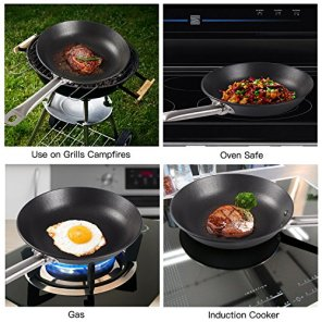 KINDEN-Cast-Iron-Skillet-Pre-Seasoned-Frying-Pan-Grill-Stovetop-Oven-Induction-Safe-Great-For-Frying-Saute-Cooking-Pizza-More-1043-inch-25-Pounds-Nonstick