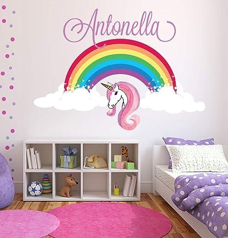 Decalmile Rainbow Unicorn Wall Decals Kids Room Wall Stickers Baby Nursery Girls Bedroom Wall Decor Wall Decor Baby Urbytus Com