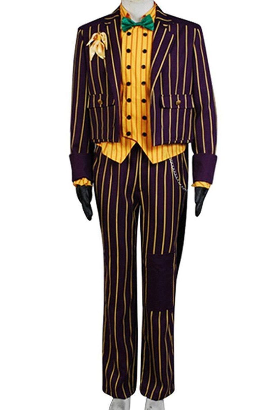 Cosparts Joker Arkham Asylum Cosplay Costume Full Set