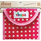 Eco Friendly Reusable Sandwich Bags. BPA + Phthalate Free. Comes with Free E-book: 10 Lunch Box Ideas to Make Picnics and Lunches Fun, Easy and Sustainable. Easy Clean. Dishwasher Safe. (Pink Star)