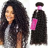 ISEE Hair 9A Grade Mongolian Kinky Curly Hair Extension Virgin Human Hair Weaving One Bundles Kinky Curly Virgin Hair 100% Human Hair Weaves Extension Mongolian Virgin Hair (18inches)