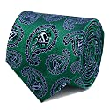 DC Comics Superman Green Paisley Tie