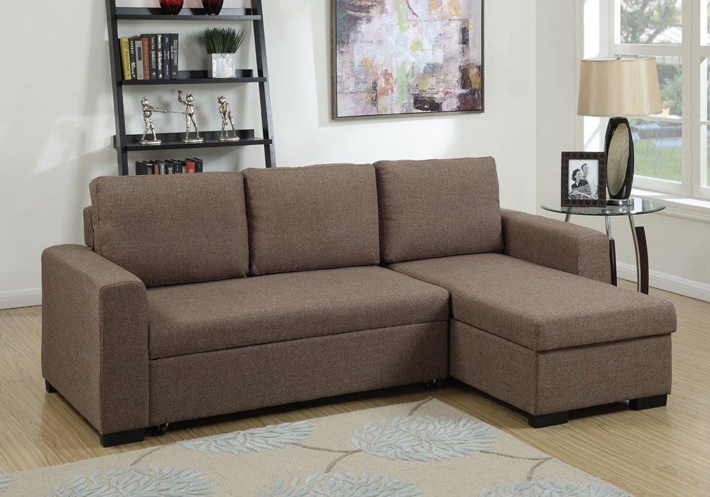 1PerfectChoice Sectional Pull Out Under Seat Sofa.