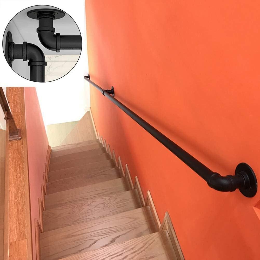 Amazon Com Ltfs Metal Balance Handrail With Complete Kit Matte | 2 Inch Round Wood Handrail | Stair Parts | Outside Diameter | Stair Treads | Handrail Brackets | Oak Wood