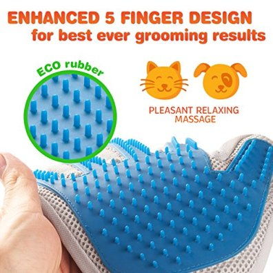 Pet-Grooming-Glove-Enhanced-Five-Finger-Design-for-Cats-Dogs-and-Horses-Long-Short-Fur-Gentle-De-Shedding-Brush-Your-Pet-Will-Love-It