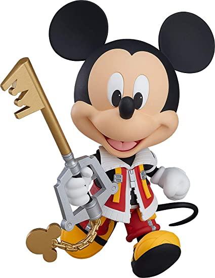 Amazon Com Good Smile Kingdom Hearts Ii Mickey Nendoroid Action Figure Toys Games