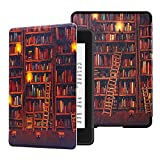 Huasiru Water-Safe Case for All-New Kindle Paperwhite (10th Generation-2018 Only - Will Not fit Prior Generation Kindle Devices), Library