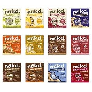 Nakd Fruit & Nut Bars Mixed Case Selection 48 Bars *Vegan, Raw, Wholefood, Wheat Free* 61cNqN iD6L