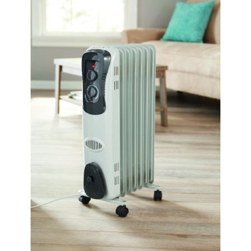 Mainstays, Oil Filled, Electric Radiant Space Heater, White #HO-0270W Radiator review