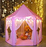 Monobeach Kids Play House Princess Tent - Indoor and Outdoor Hexagon Pink Castle Play Tent for Girls with...