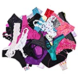 UWOCEKA Sexy Underwear, Kinds of Women T-Back Thong G-String Underpants Sexy Lacy Panties, 20 Pcs, Small