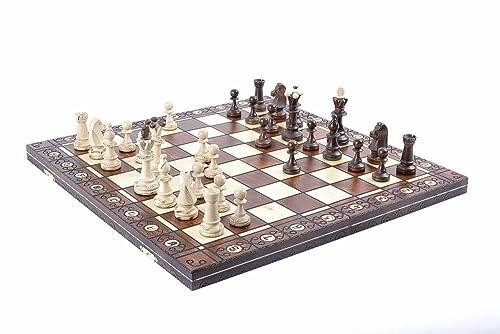 Wegiel Chess Set - Consul Chess Pieces and Board - European Wooden Handmade Game - JUNIOR