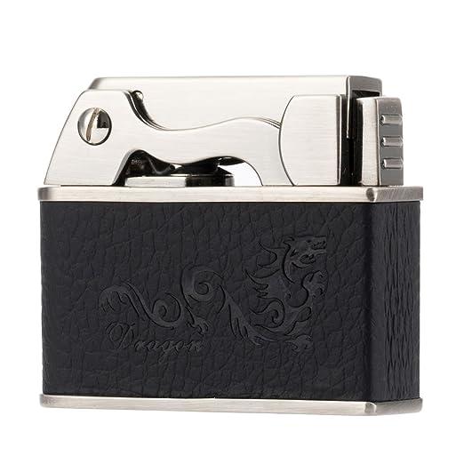 Scotte Button switch Automatic lighters tobacco pipe lighter Kerosene/Petrol lighter (black)