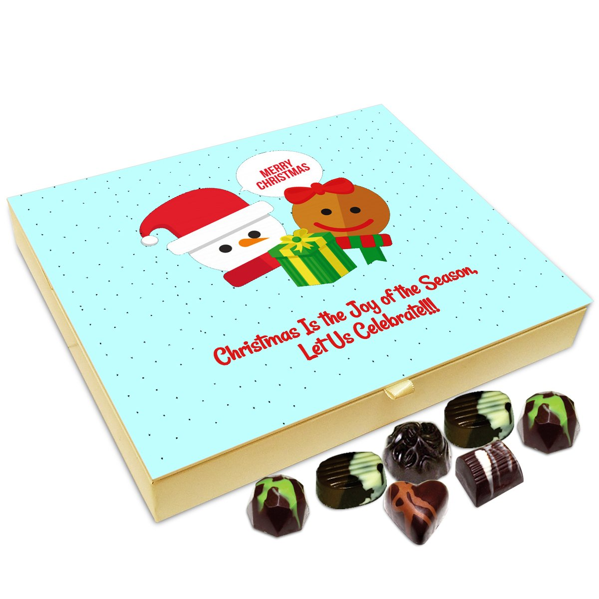 Chocholik Christmas Gift Box – Let Us Celebrate Christmas The Joy of The Season Chocolate Box – 20pc