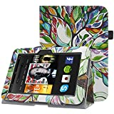 HOTCOOL Case For Kindle Fire HD 7 2012 Tablet - Slim Folding Stand Smart Cover For Amazon Kindle Fire HD 7 (Previous 2nd Generation 2012), Happy Tree