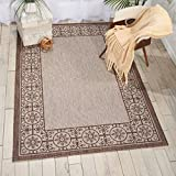 Nourison Garden Party GRD03 Natural Indoor/Outdoor Area Rug 5 Feet 3 Inches by 7 Feet 3 Inches, 5'3'X7'3'