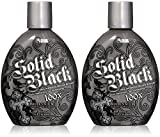 Millenium Tanning 2 Piece Millennium Solid 100X Indoor Dark Bronzing Lotion Tanning Bed, Black, 13.5 Oz each.