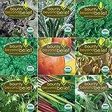 """Super Greens"" Organic Garden Vegetable Seeds - 8 Gardening Guide eBooks - Organic, Non GMO, Survival Vegetable Garden Seed Packets - Herbs, Beets, Broccoli, Kale, Mesclun, Chard, Mustard, Spinach"