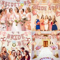 Mingco-Bride-to-Be-EVJF-Accessoire-Bride-to-Be-Ballon-Bachelorette-Bride-Party-Fournitures-avec-la-marie--tre-Foil-BallonsBallons-confettis-pour-Douche-Nuptiale-Partie-de-Poule
