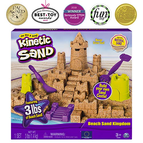Kinetic Sand Beach Sand Kingdom Playset with 3lbs of Beach Sand (ages 3+)