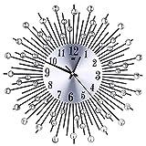 Kay Cowper 3D Wall Clock Diamonds Non-Ticking Silent Dazzling Clock for Home Office