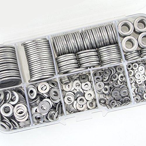 Sutemribor-304-Stainless-Steel-Flat-Washers-Set-580-Pieces-9-Sizes-M2-M25-M3-M4-M5-M6-M8-M10-M12