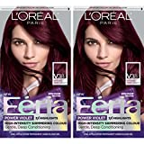 L'Oreal Paris Feria Multi-Faceted Shimmering Permanent Hair Color, V38 Violet Noir, 2 Count Hair Dye