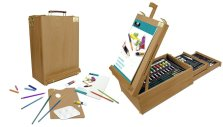 portable desktop easel with storage