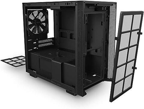 NZXT H210 Black & Black ミニタワーPCケース CA-H210B-B1 CS7959 内部構造