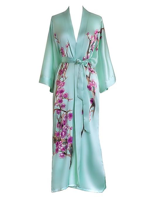 handpainted silk extra long KIM + ONO Kimono Robe, silk robe
