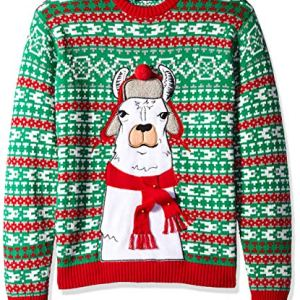 Blizzard Bay Men's Trapper Hat Scarf Llama Ugly Christmas Sweater