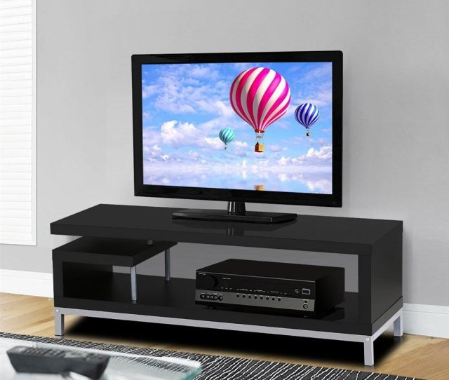 Amazon Com Topeakmart Modern Tv Stand Console Table Home Entertainment Center Cabinet For 45 Inch Flat Screen Tv Black Kitchen Dining