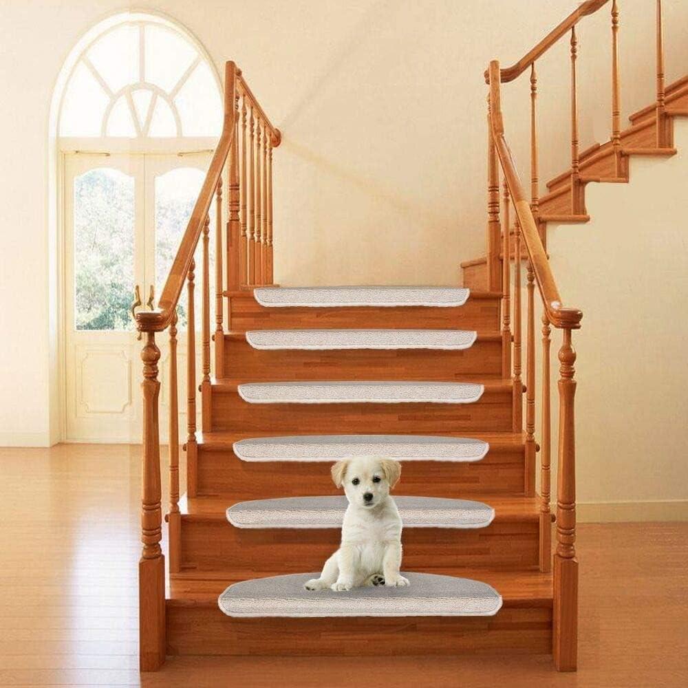 Qingbei Rina Carpet Stair Tread Mats Non Slip Indoor Stair   Carpet For Stairs Amazon   Beige   Non Slip   Flooring   Self Adhesive   Carpet Tiles