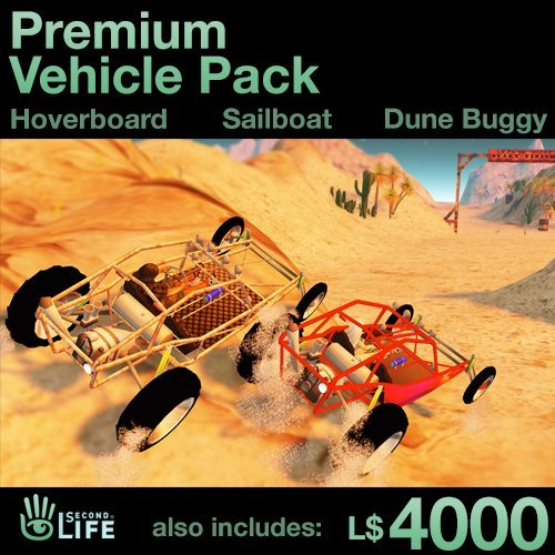 Premium Vehicle Pack - Soar, Sail, and Drive: Second Life [Instant Access]